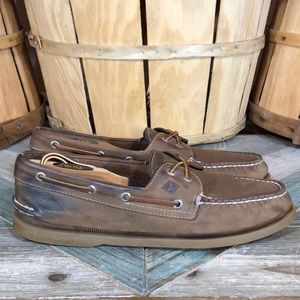 Sperry A/O Slip-On Leather Boat Shoes